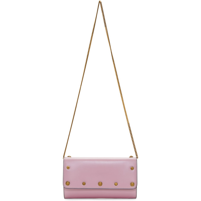 Versace Pink Medusa Continental Wallet Bag