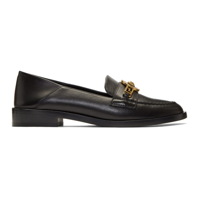 Versace Black Tribute Medusa Folded Loafers