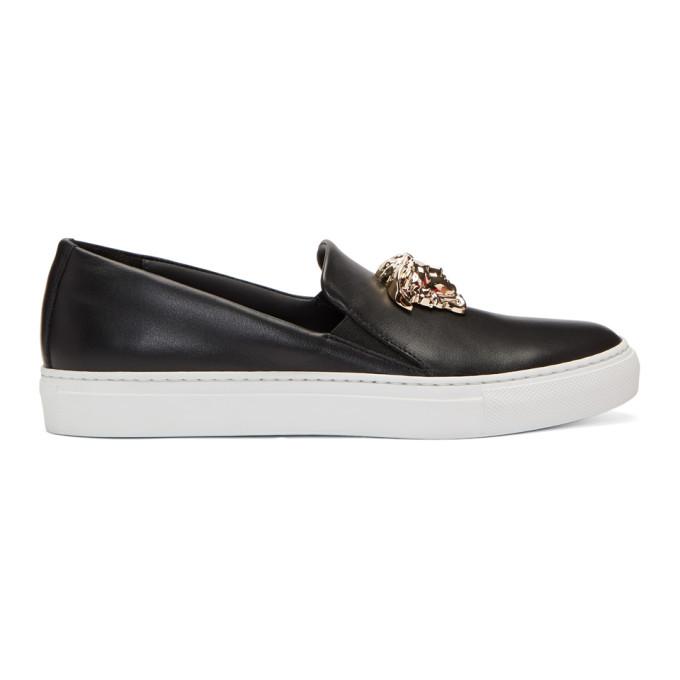 Versace Black Medusa Slip-On Sneakers