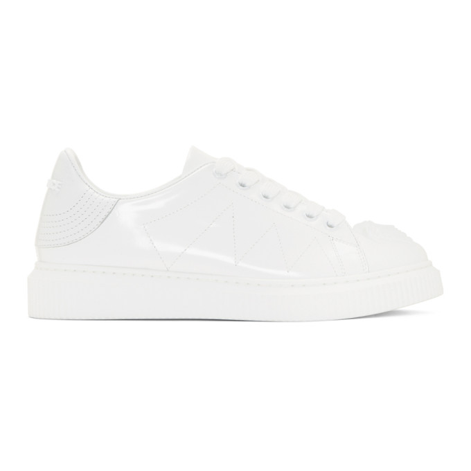 Versace White Medusa Platform Sneakers