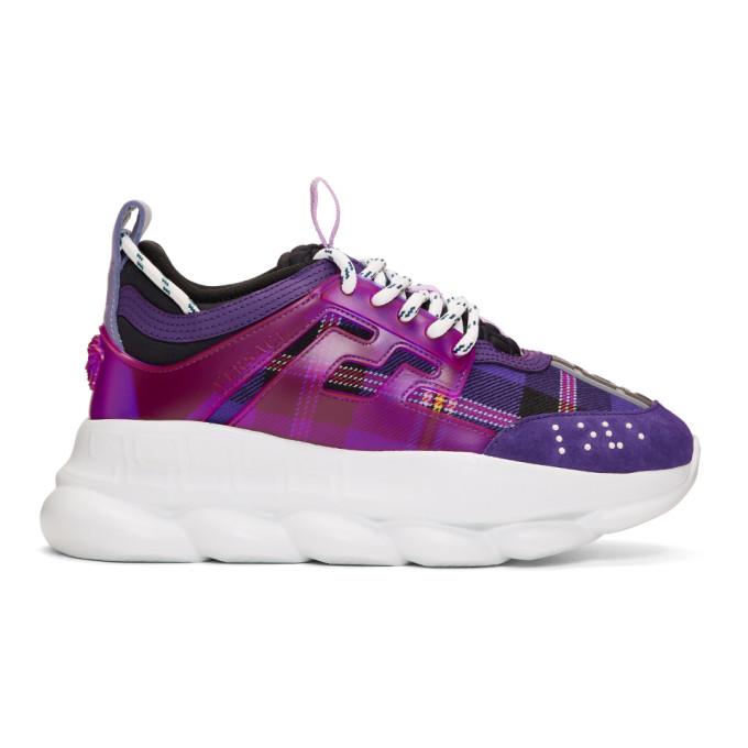 Versace Purple Chain Reaction Sneakers