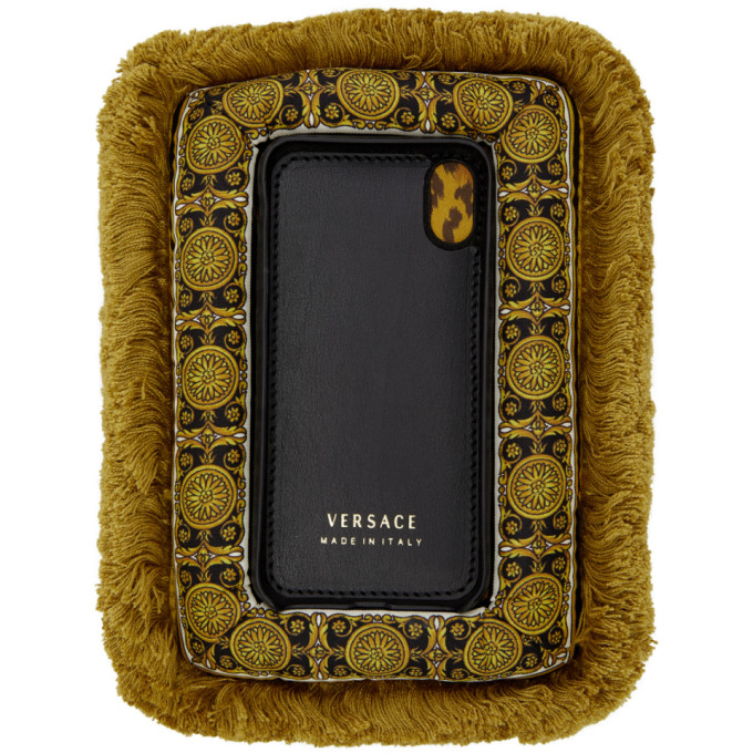 VERSACE MULTICOLOR CURTAIN IPHONE X CASE