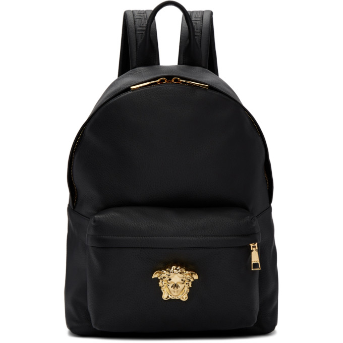 Versace Black Medusa Head Backpack