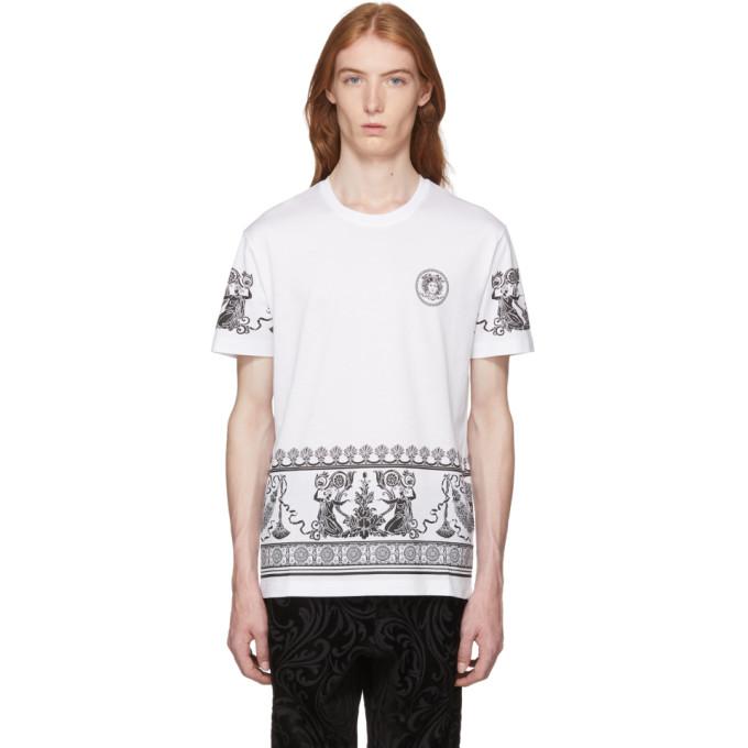 Versace ホワイト メドゥーサ T シャツ