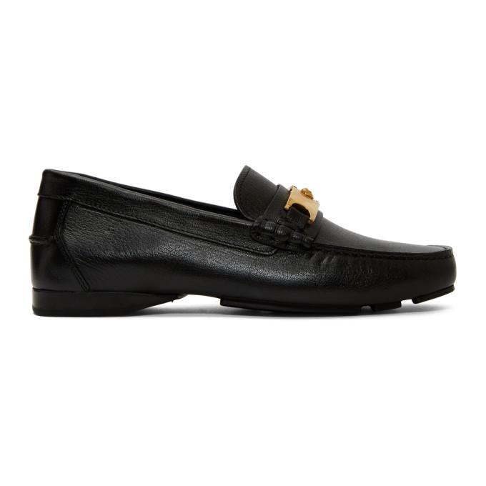 Versace Black Medusa Buckle Loafers