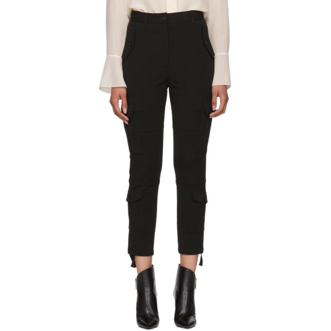 Image of Altuzarra Black Cargo Pocket Trousers