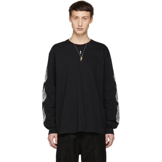 SASQUATCHFABRIX Sasquatchfabrix. Black Kamisabiru-001 Long Sleeve T-Shirt in 02 Black