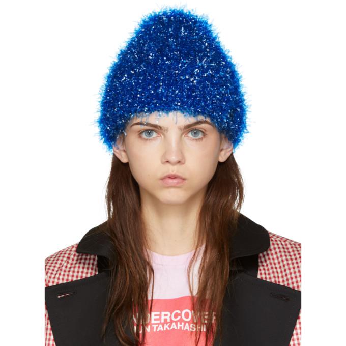 Undercover Bonnet en film verni bleu
