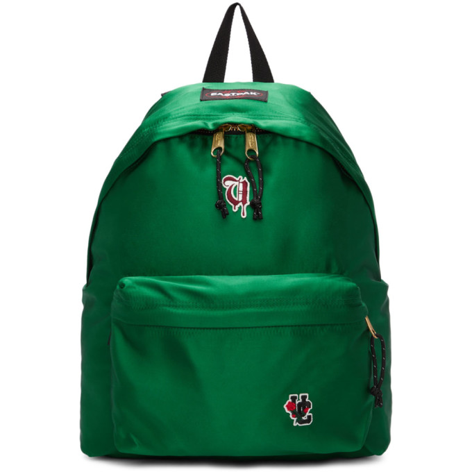 Undercover Green Eastpak Edition Satin Padded Pakr Uc Backpack in Green Satin