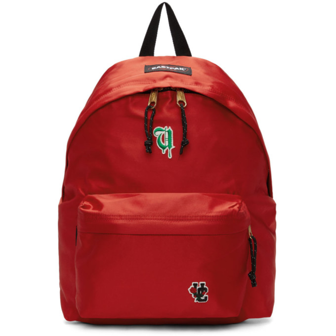 Undercover Red Eastpak Edition Satin Padded Pakr Uc Backpack in Red Satin
