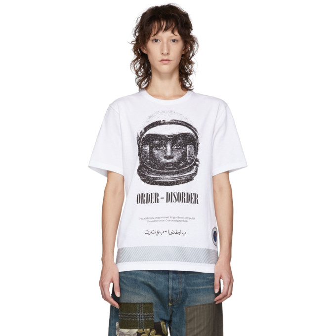 Undercover UNDERCOVER WHITE ASTRONAUTICS AGENCY T-SHIRT