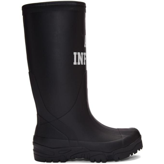 Undercover Black 'We Are Infinite' Rain Boots