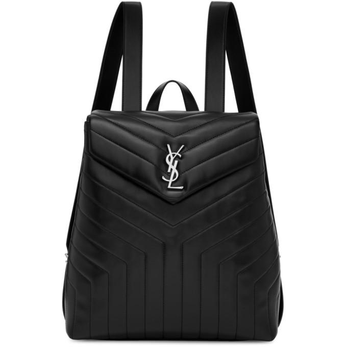 Saint Laurent Black Medium Loulou Backpack