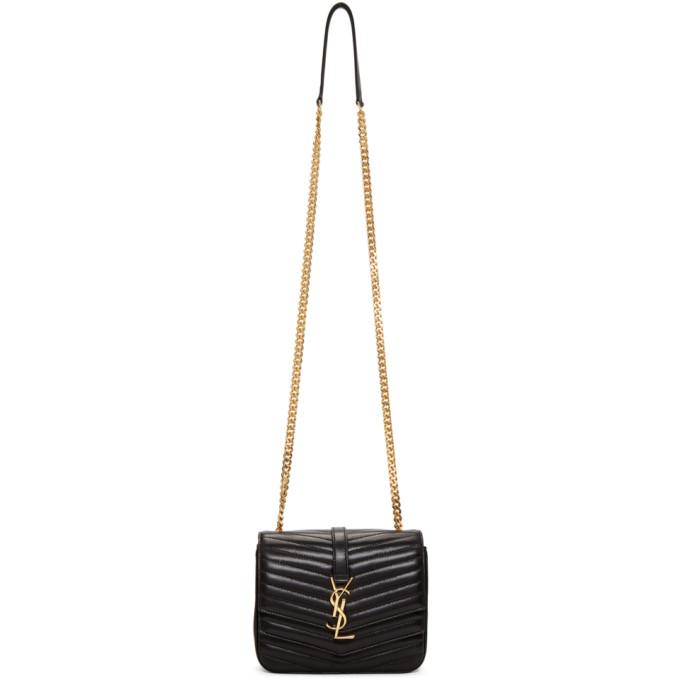 Saint Laurent Black Medium Montaigne Monogramme Chain Bag