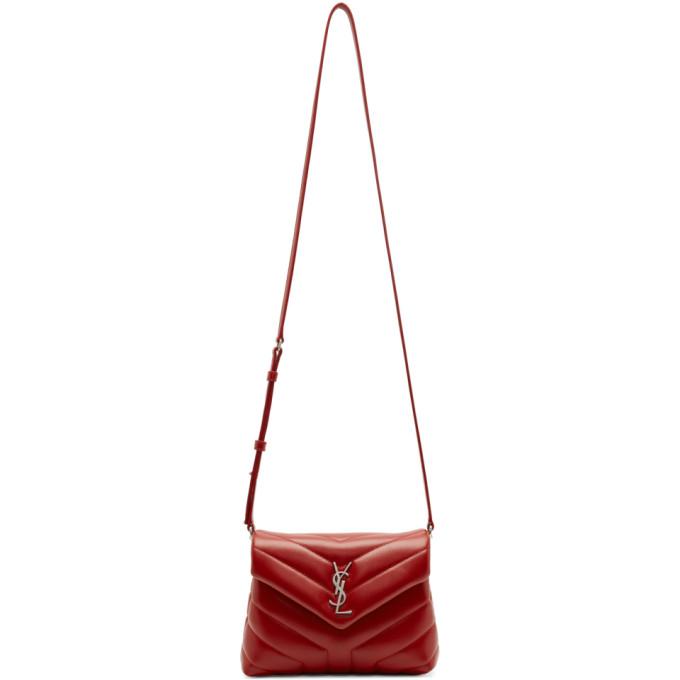 Saint Laurent Red Loulou Monogramme Shoulder Bag