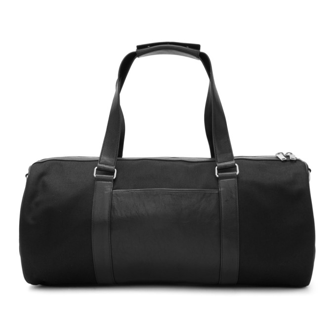 Saint Laurent Black Gabardine Duffle Bag