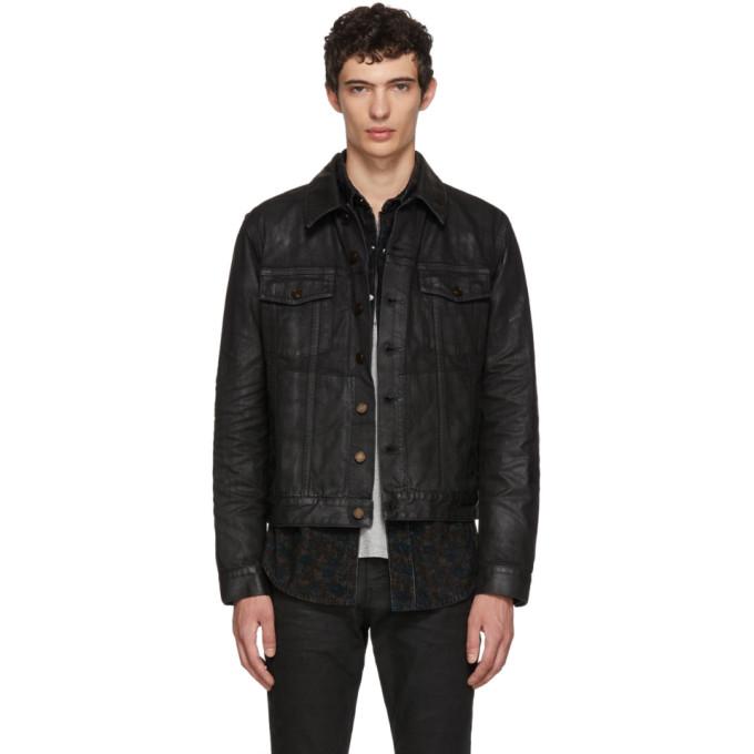 Saint Laurent ブラック コート デニム ジャケット