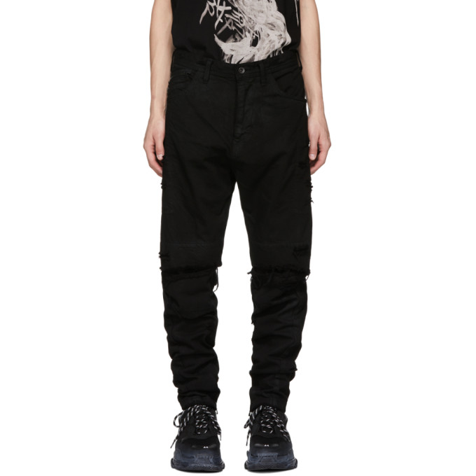 Julius Black Destroyed Jeans