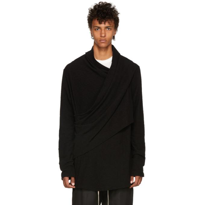 Image of Julius Black Cotton Pile Sweatshirt