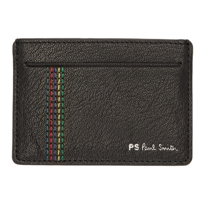 Ps By Paul Smith Black Stripe Stitch Card Holder