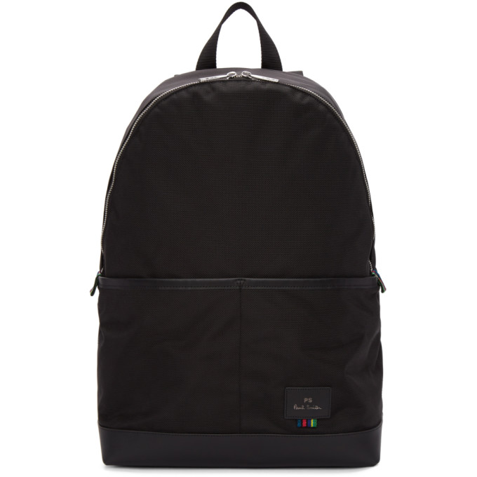 Ps By Paul Smith Black Nylon Backpack