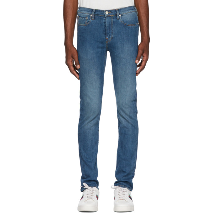 Ps By Paul Smith Blue Slim Fit Jeans