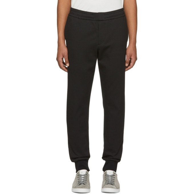 Image of PS by Paul Smith Black Drawcord Sweatstyle Trousers