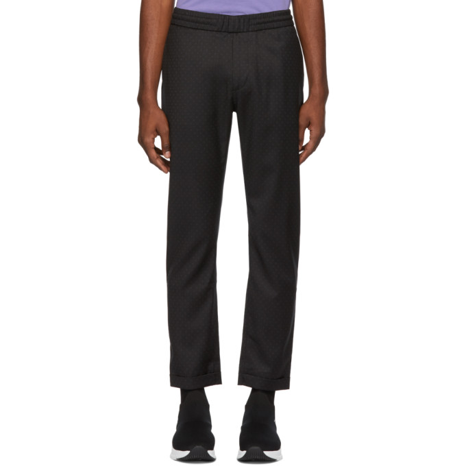 Image of PS by Paul Smith Black Diamond Drawstring Trousers