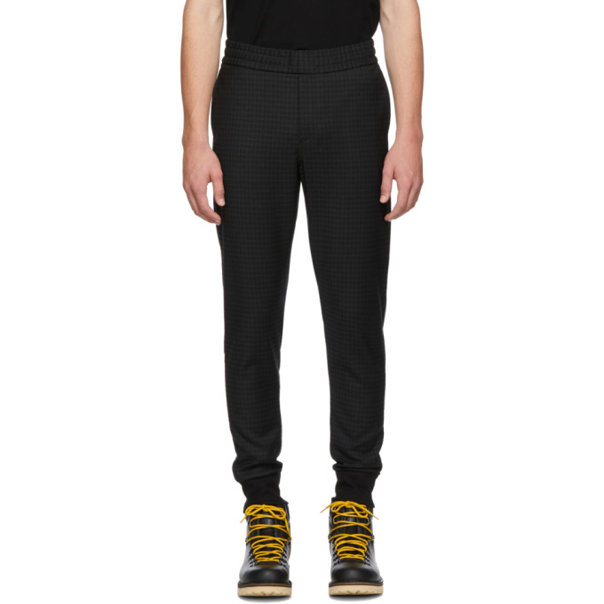 Image of PS by Paul Smith Black Check Drawcord Trousers