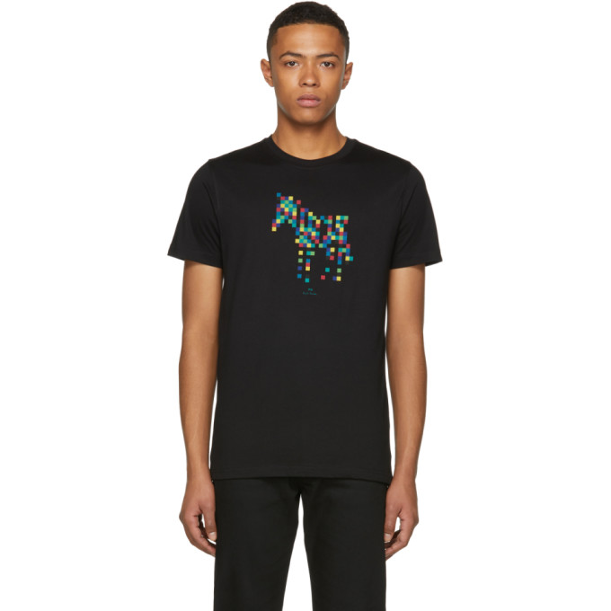 Ps By Paul Smith Black Slim Fit Zebra T Shirt