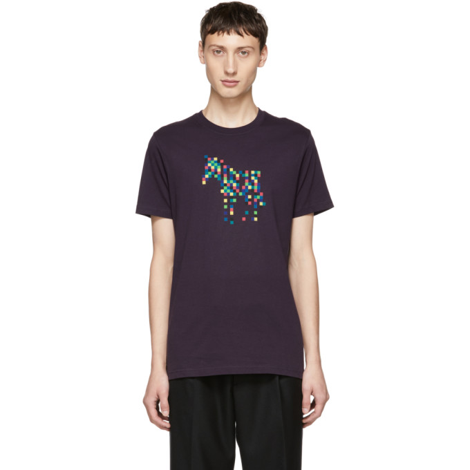 Ps By Paul Smith Purple Zebra Organic T Shirt
