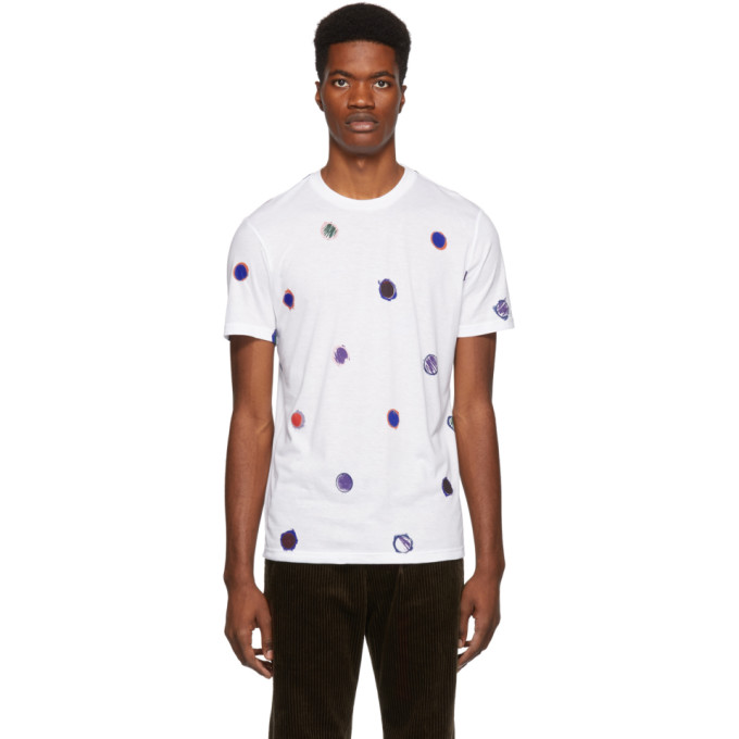 PS BY PAUL SMITH Ps By Paul Smith Scribble Dot T-Shirt - White