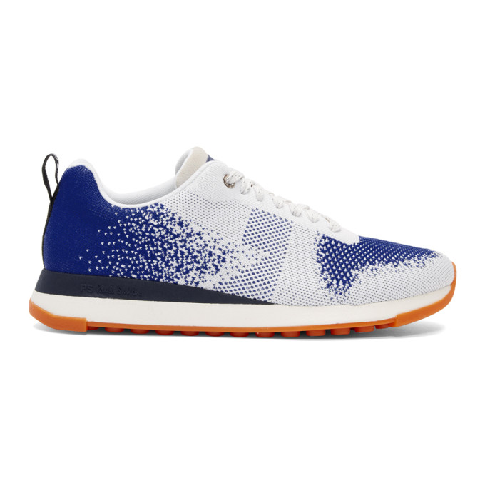 PS BY PAUL SMITH Ps By Paul Smith White And Blue Rappid Ms2 Sneakers