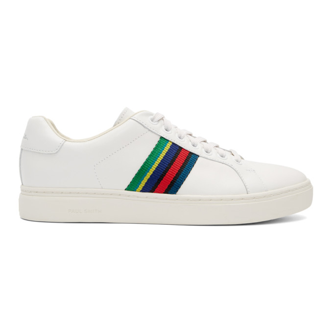 Ps By Paul Smith White Lapin Stripe Sneakers
