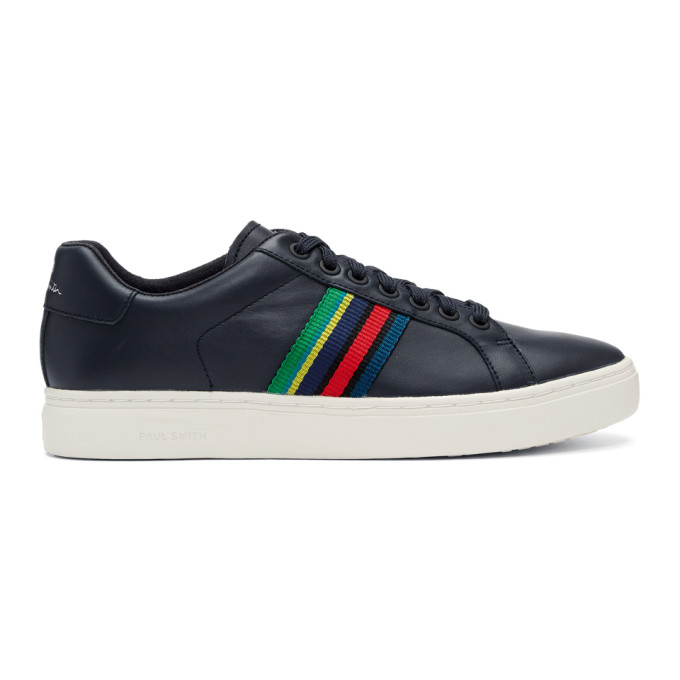 Ps By Paul Smith Navy Lapin Multistripe Sneakers