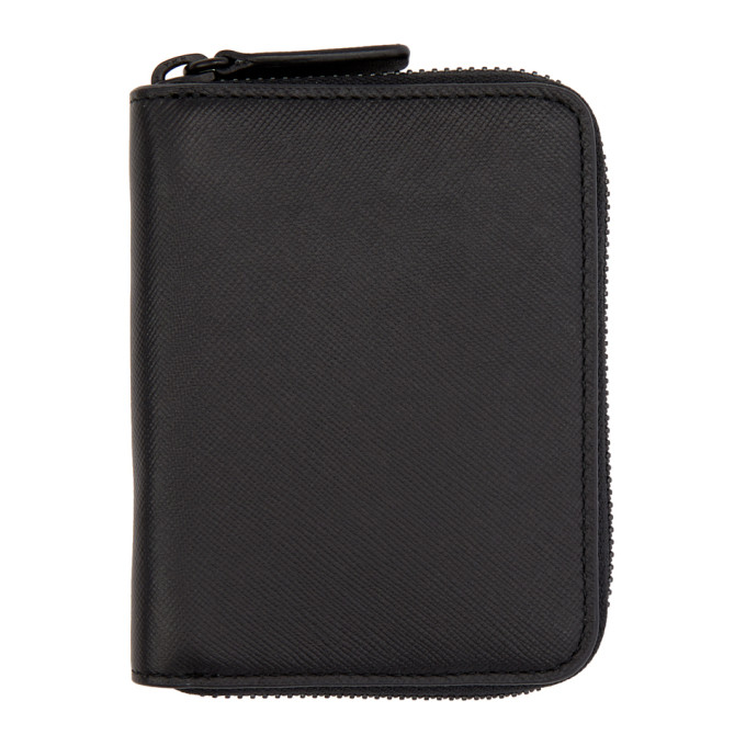 Image of Woman by Common Projects Black Saffiano Zip Wallet