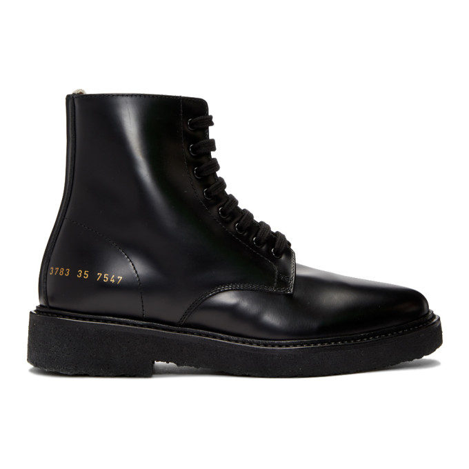 Woman by Common Projects SSENSE Exclusive Black Combat Boots