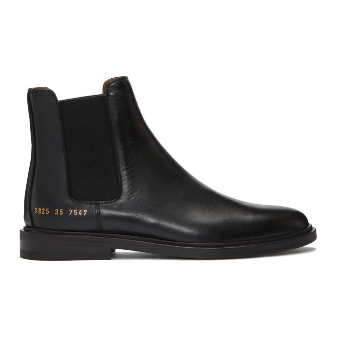 Woman by Common Projects Black Chelsea Boots
