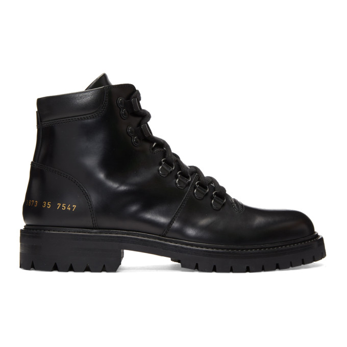 Woman by Common Projects Black Hiking Boots