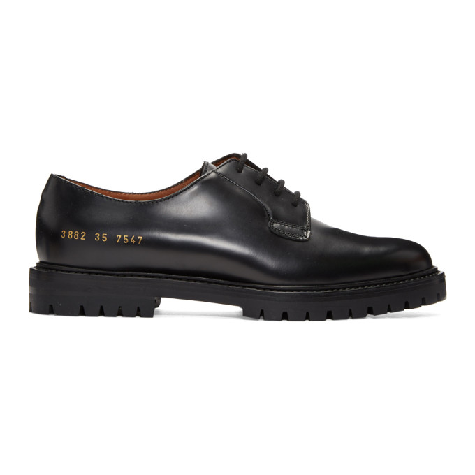 Woman by Common Projects SSENSE Exclusive Black Leather Derbys
