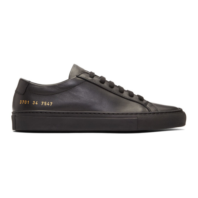 Woman by Common Projects Black Original Achilles Low Sneakers