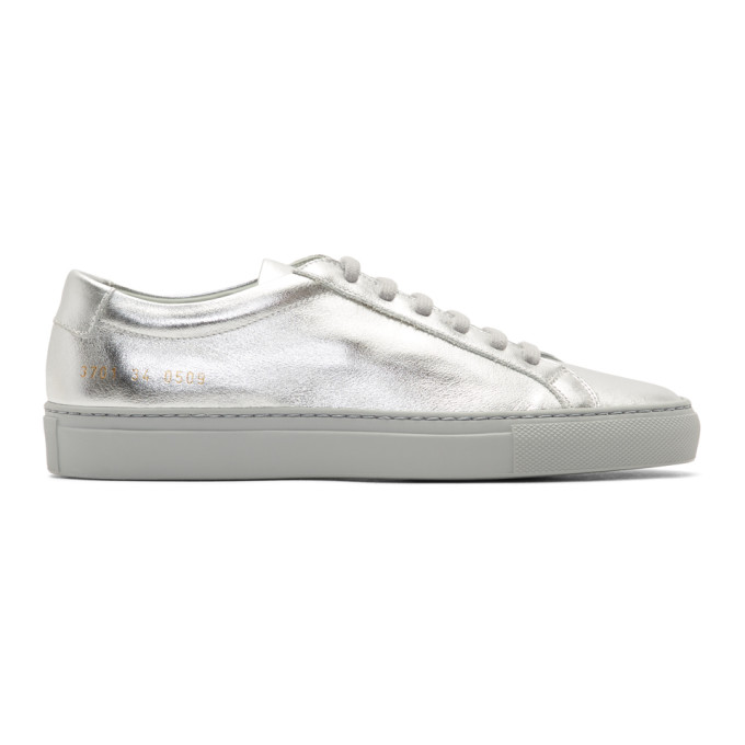Woman by Common Projects Silver Original Achilles Low Sneakers
