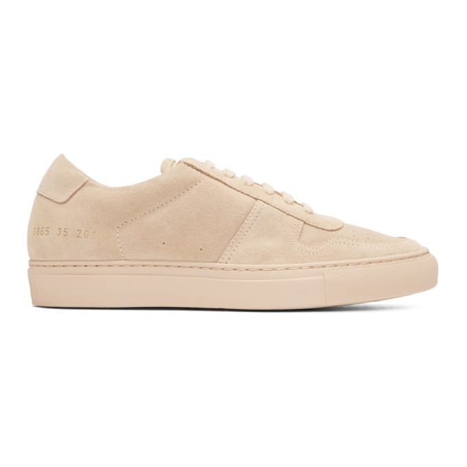 Woman by Common Projects Pink Suede BBall Low Sneakers