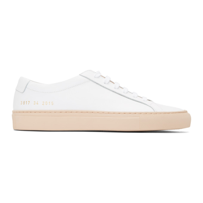 Woman by Common Projects SSENSE Exclusive White & Pink Achilles Low Sneakers