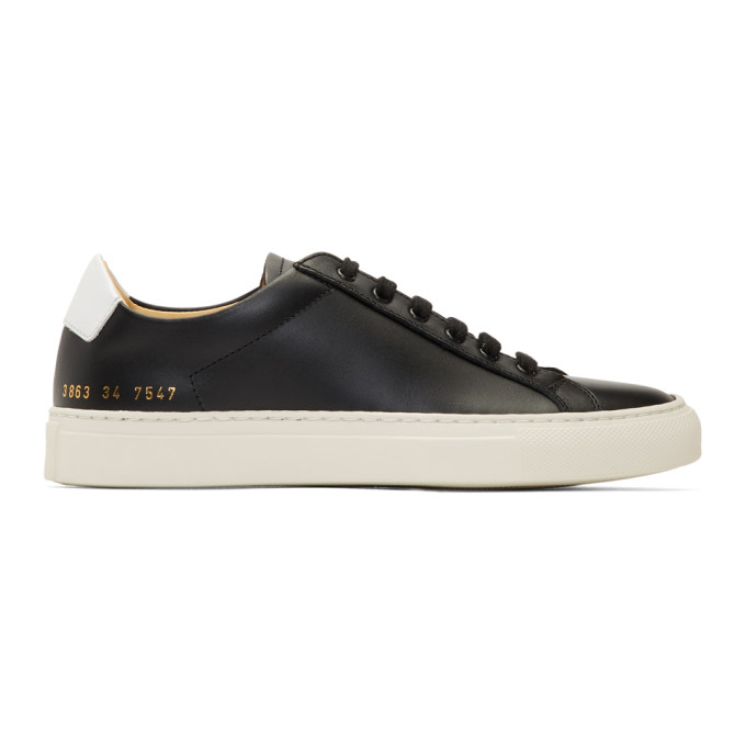Woman by Common Projects Black Retro Low Sneakers