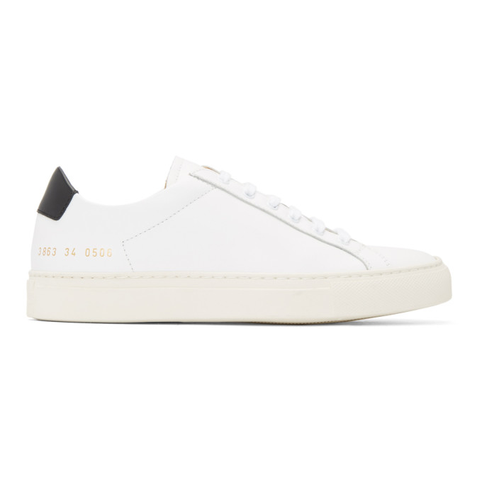 Woman by Common Projects White Retro Low Sneakers
