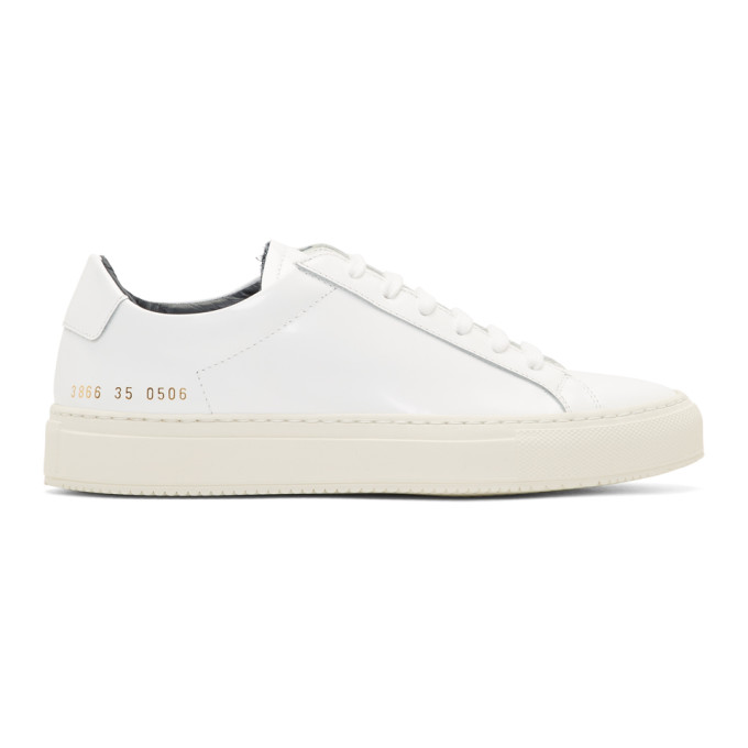 Woman by Common Projects White Achilles Premium Sneakers