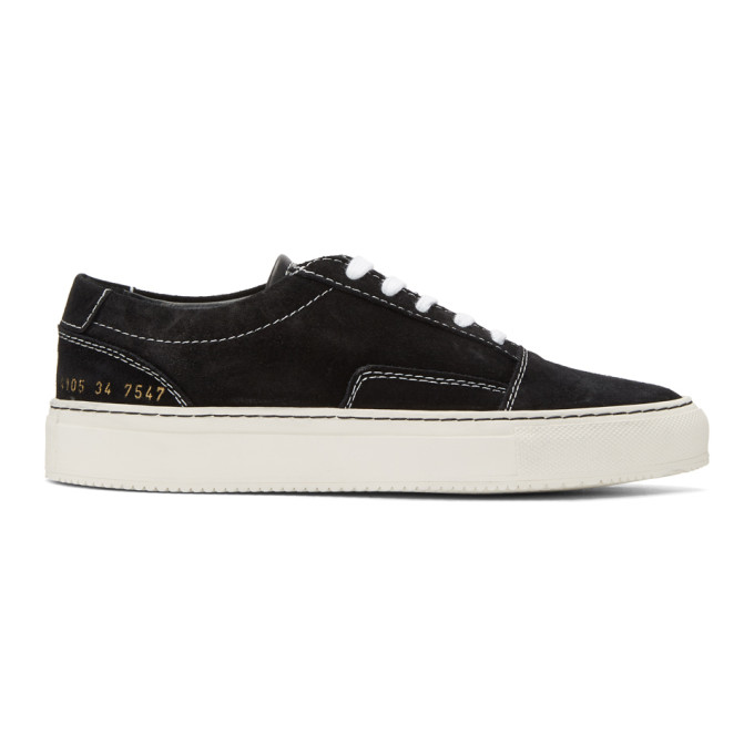Woman by Common Projects Black Suede Skate Low Sneakers