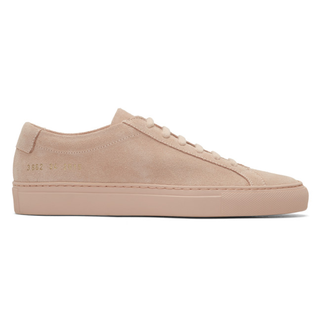 Woman by Common Projects Pink Suede Original Achilles Low Sneakers