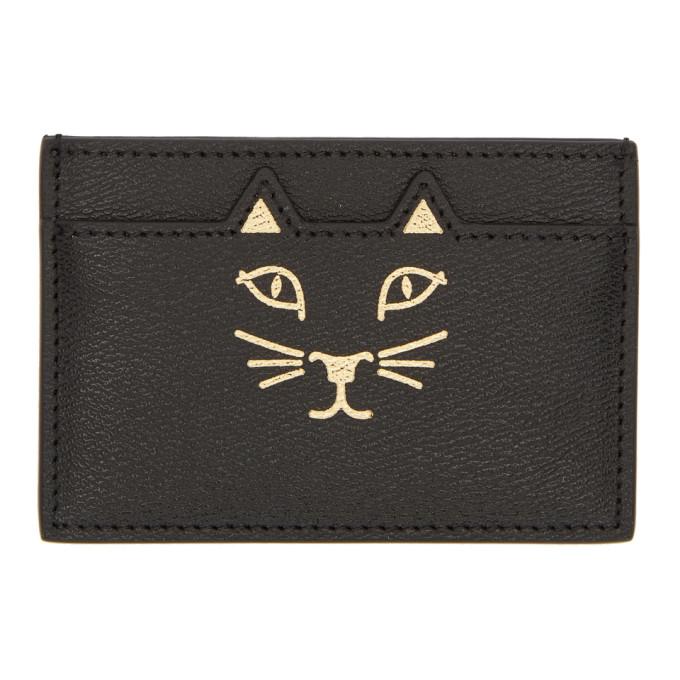 Image of Charlotte Olympia Black Feline Card Holder